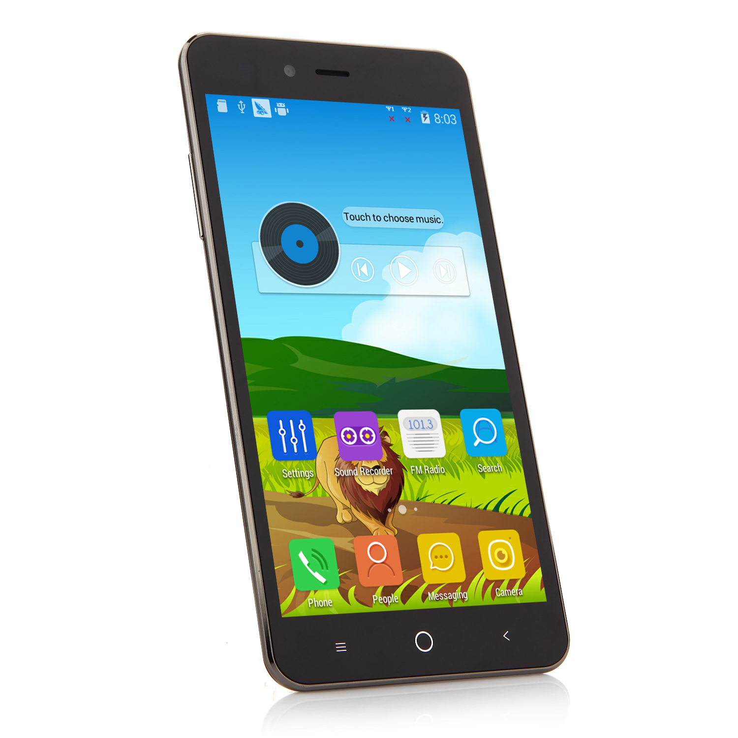 Tengda G710 Smartphone Android 4.4 MTK6572M Dual Core 5.5 Inch Smart Wake Gold