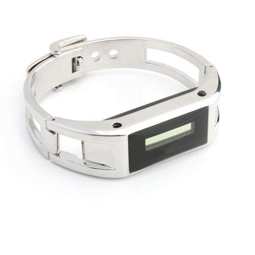 Bluetooth Vibrating Bracelet with Call ID Silver