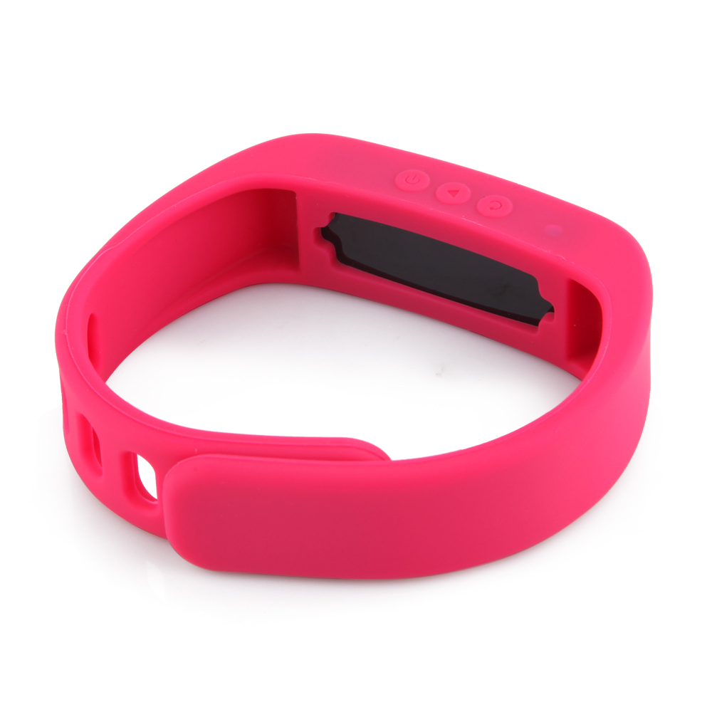 OLED Bluetooth Healthy Bracelet for Android Smartphones Rose