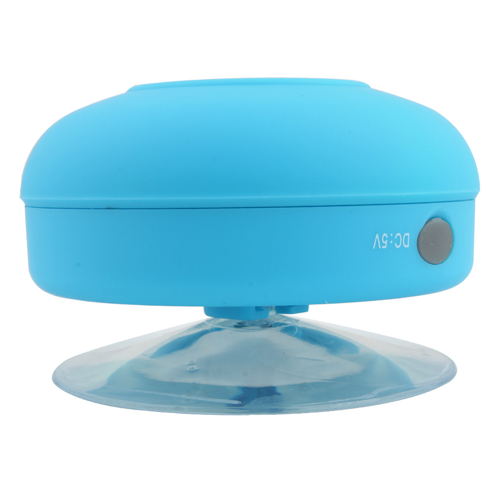 Portable Waterproof Stereo Wireless Bluetooth Speaker Handsfree with Suction Cup Blue