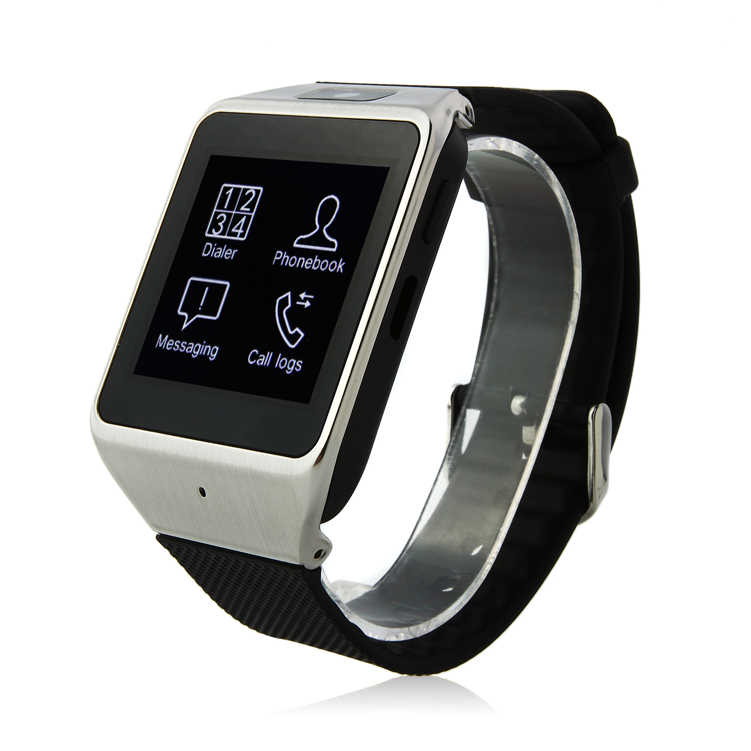 Atongm W007 Smart Bluetooth Watch 1.54 Inch Touch Screen with Camera - Black