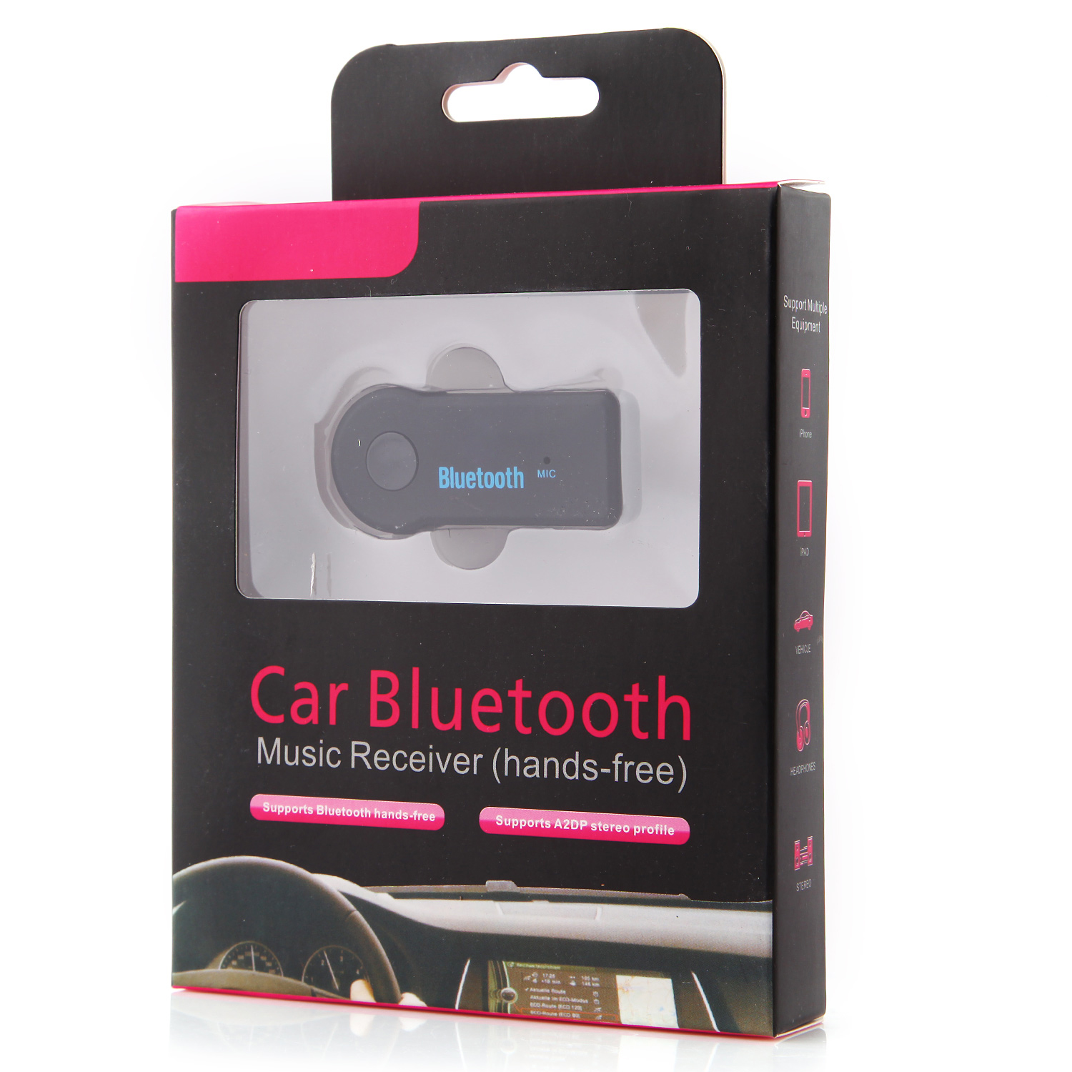 EP-B3511 Car Bluetooth V3.0 Music Receiver Wireless Audio with Mic A2DP