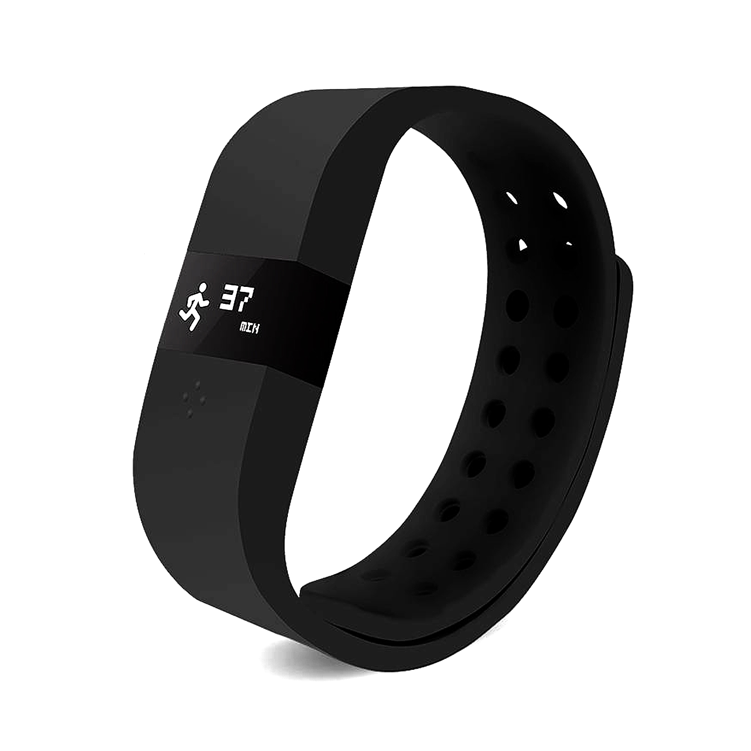 ERI Fitness Activity Tracker Bracelet Pedometer Sleep Monitor for Android iOS Black