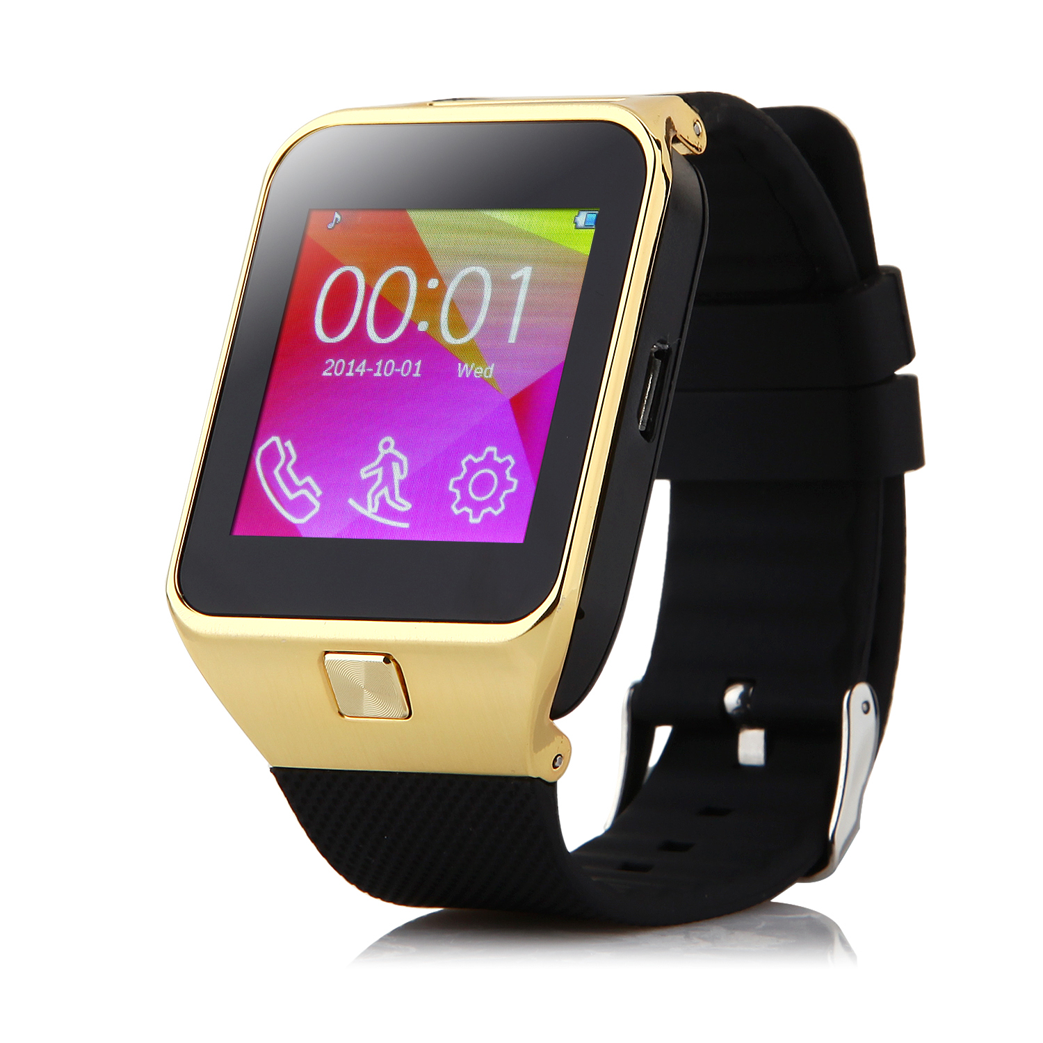 ZGPAX S29 Watch Phone Bluetooth Watch Quad Band 1.54 Inch FM Camera Golden