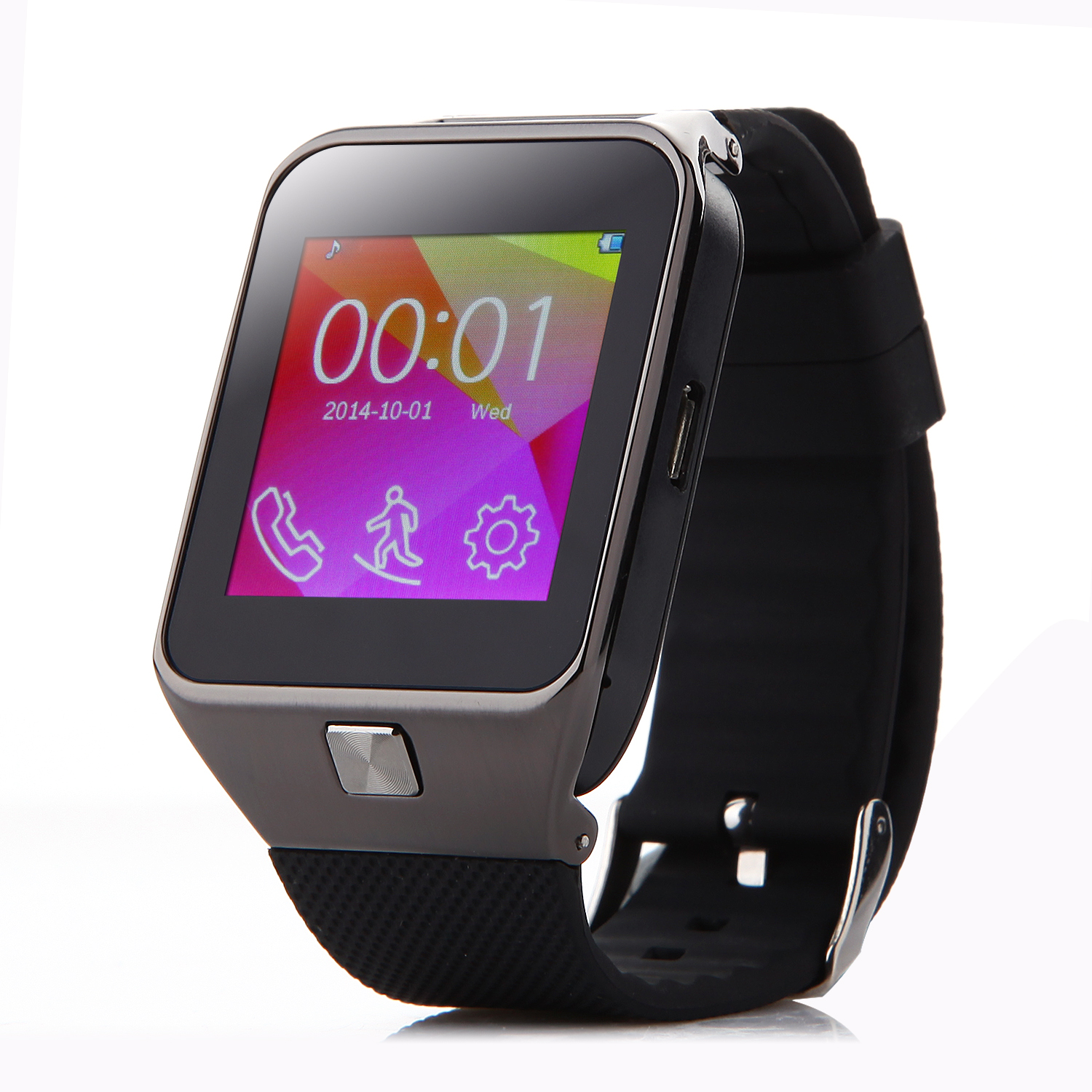 ZGPAX S29 Watch Phone Bluetooth Watch Quad Band 1.54 Inch FM Camera Black