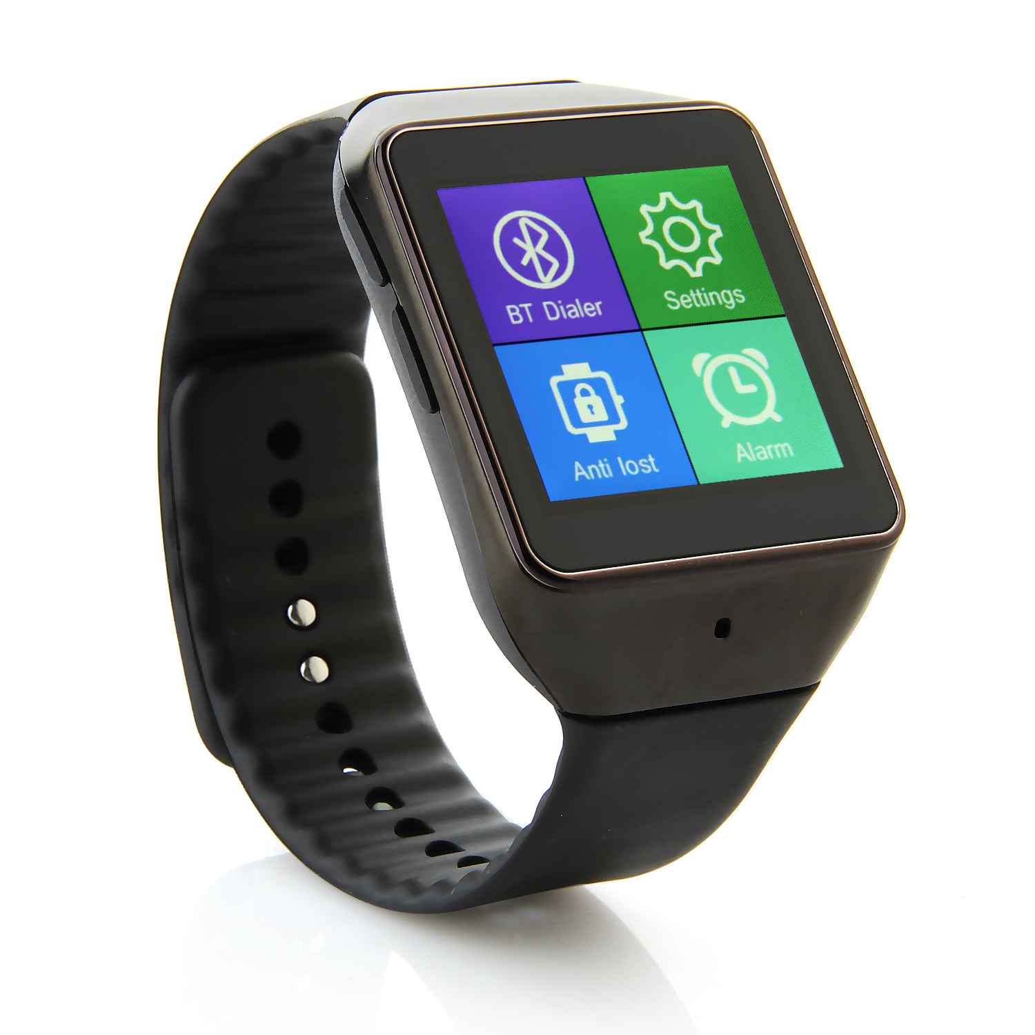 Atongm W006 Smart Bluetooth Watch 1.54 Inch Touch Screen with Mic - Black