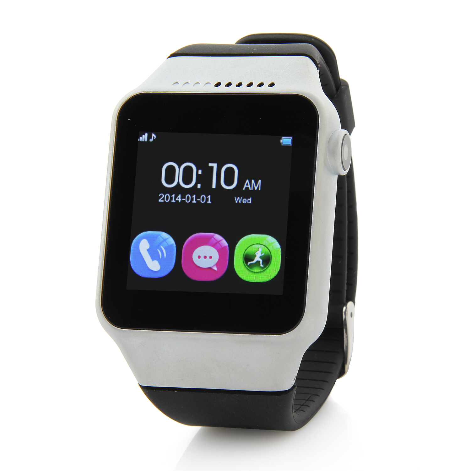 S39 Smart Watch Phone 1.54 Inch Touch Screen Bluetooth Camera FM Black+Silver