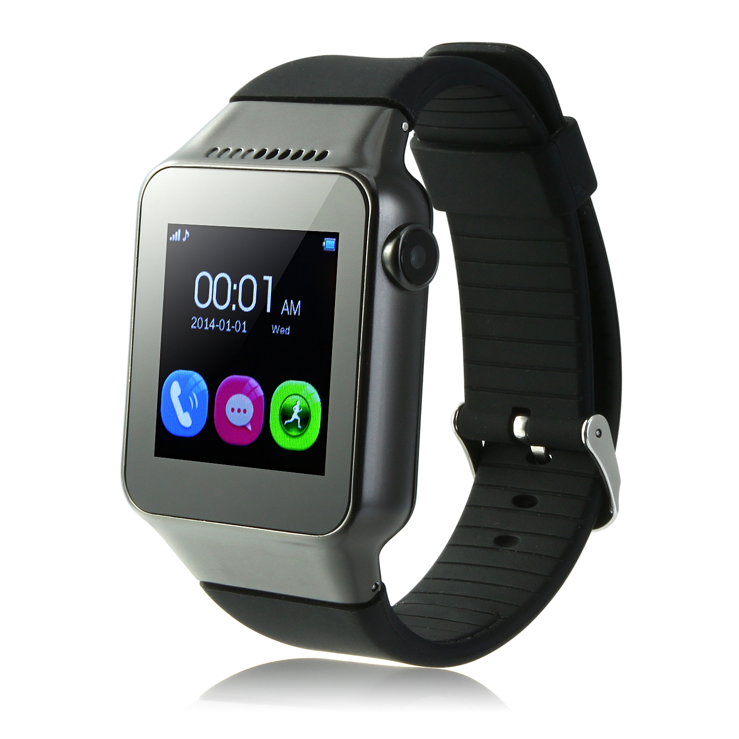 ZGPAX S39 Smart Watch Phone 1.54 Inch Touch Screen Bluetooth Camera FM Black
