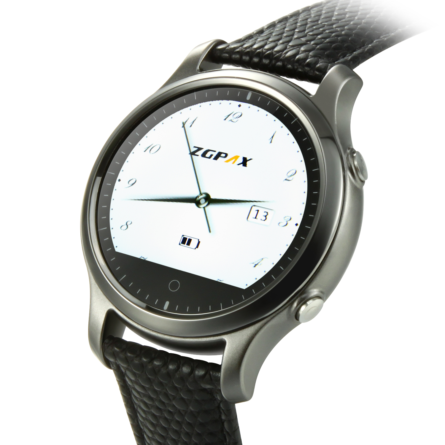 ZGPAX S360 Smart Bluetooth Watch 1.22 Inch SOS Button for IOS Android Smartphone Black