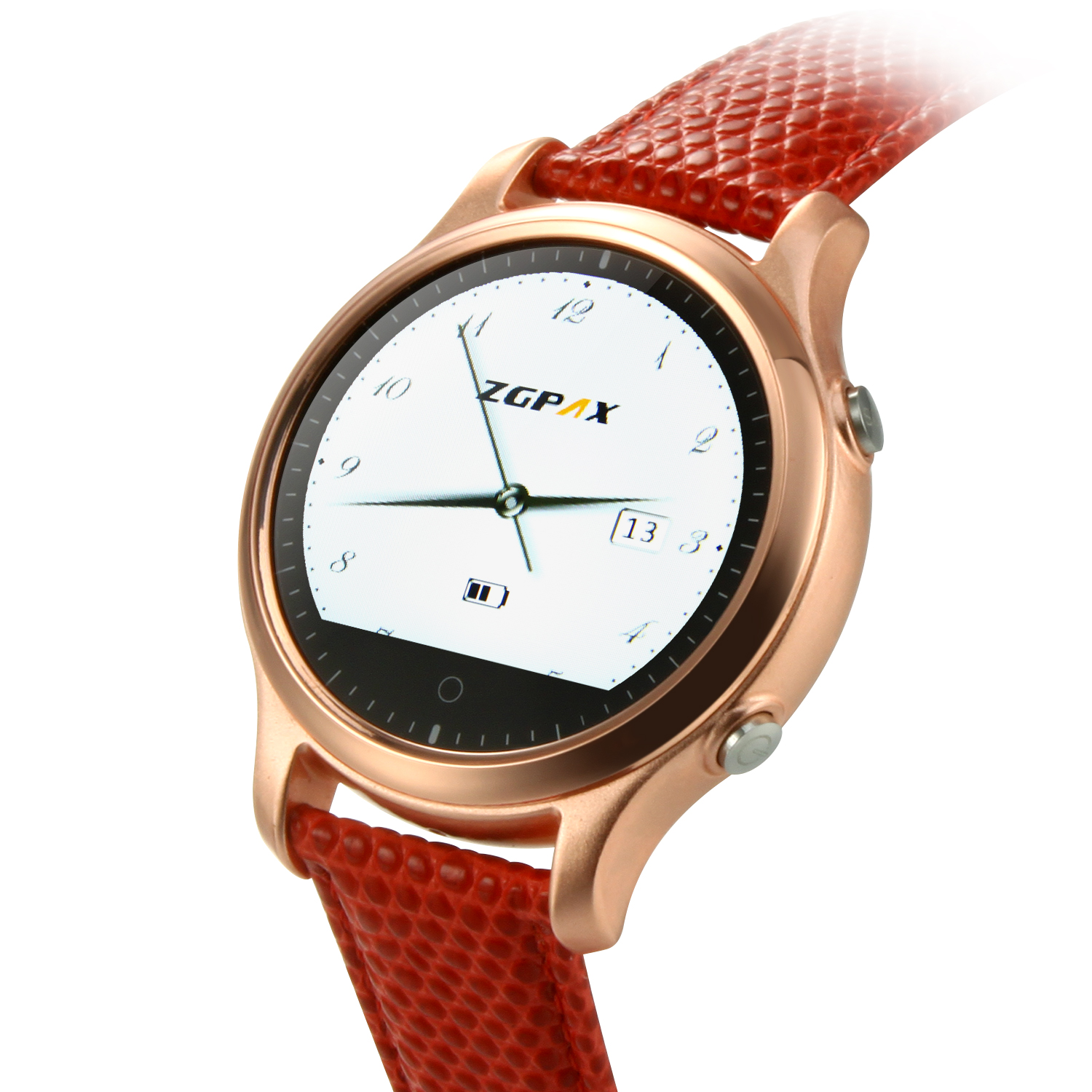 ZGPAX S360 Smart Bluetooth Watch 1.22 Inch SOS Button for IOS Android Smartphone Red