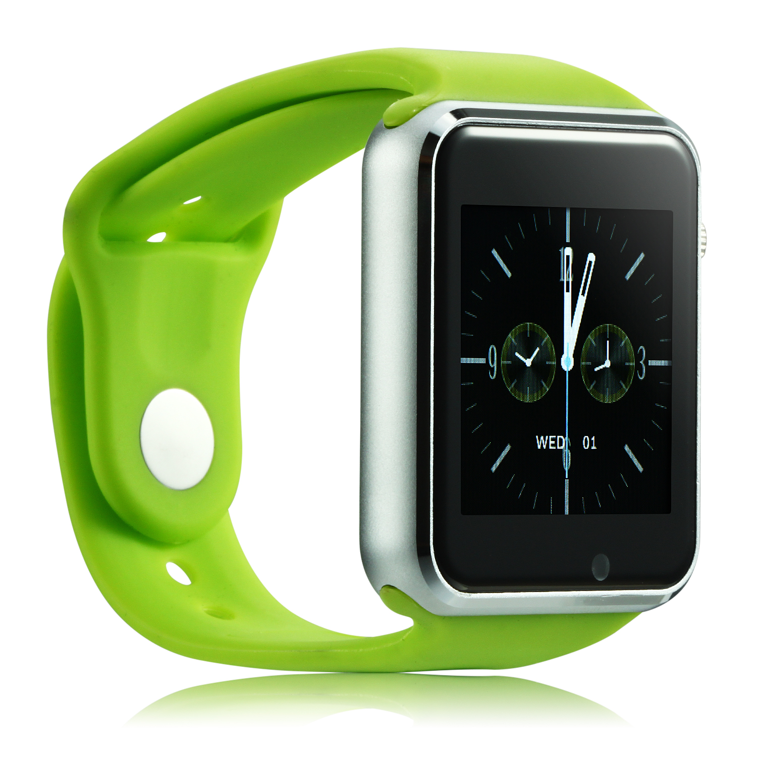 iCou I6 Smart Watch Phone 1.54 Inch Touch Screen Bluetooth Camera FM Green
