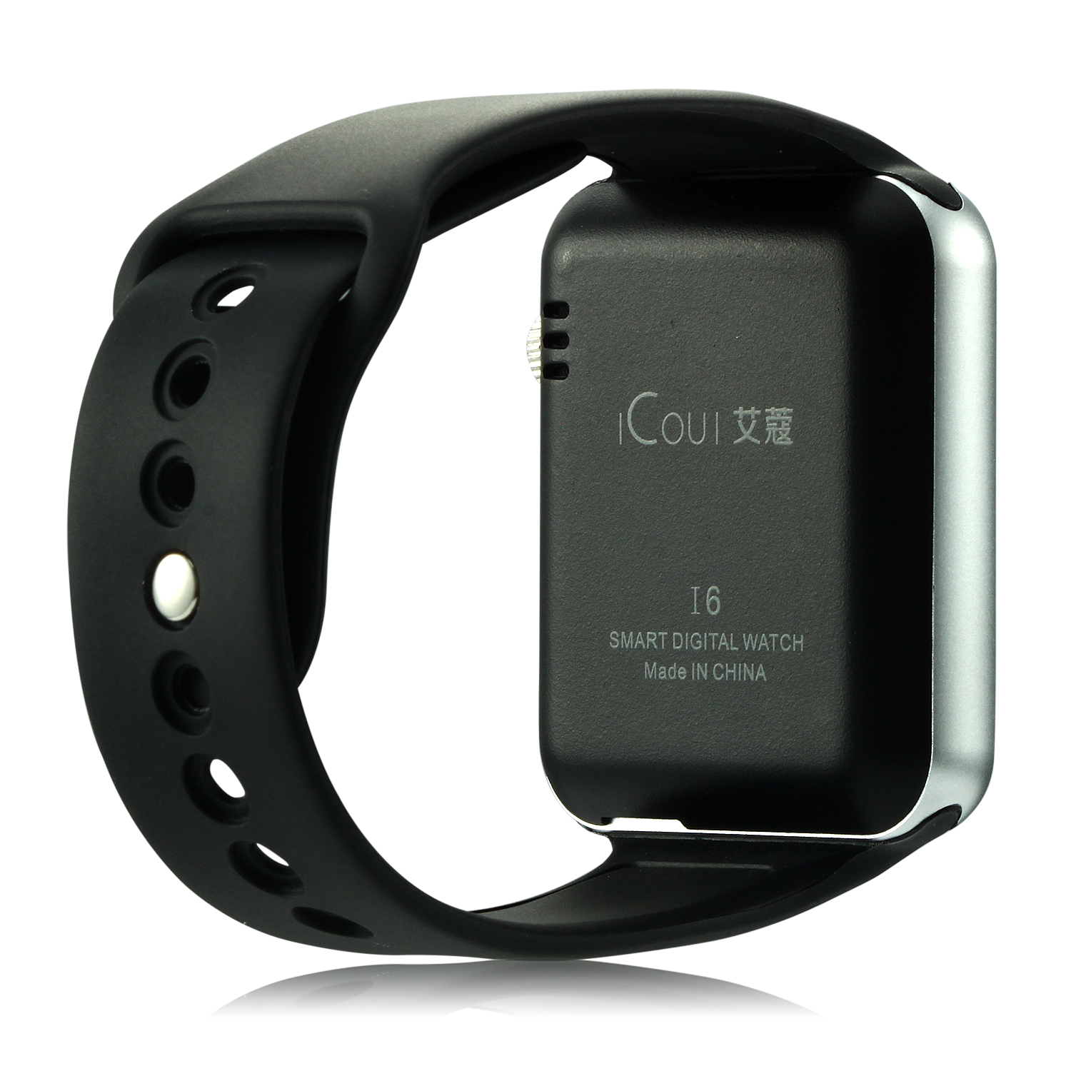 iCou I6 Smart Watch Phone 1.54 Inch Touch Screen Bluetooth Camera FM Black