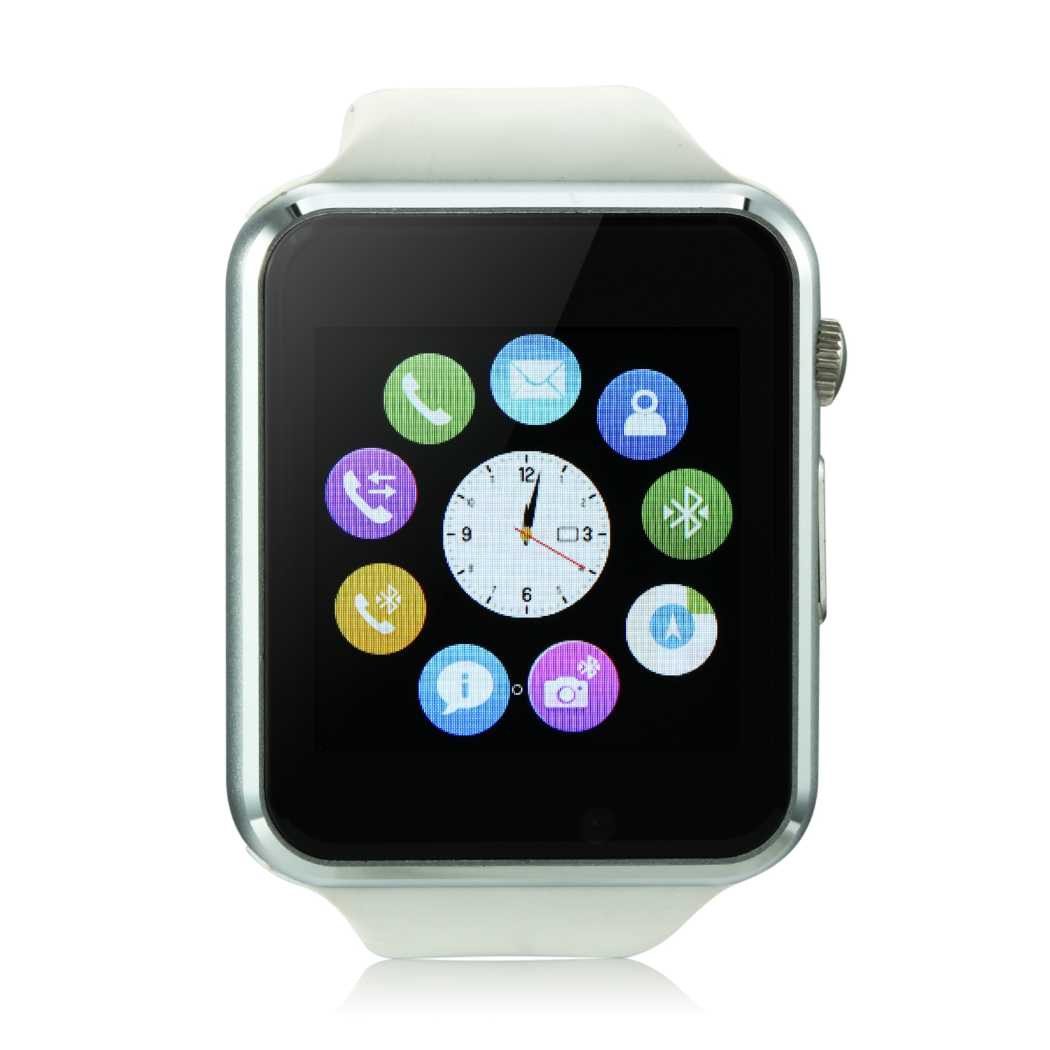 iCou I6 Smart Watch Phone 1.54 Inch Touch Screen Bluetooth Camera FM White