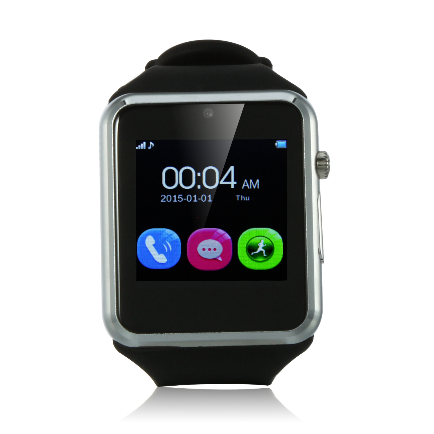 ZGPAX S79 Smart Watch Phone 1.54 Inch Touch Screen Bluetooth Camera FM Black