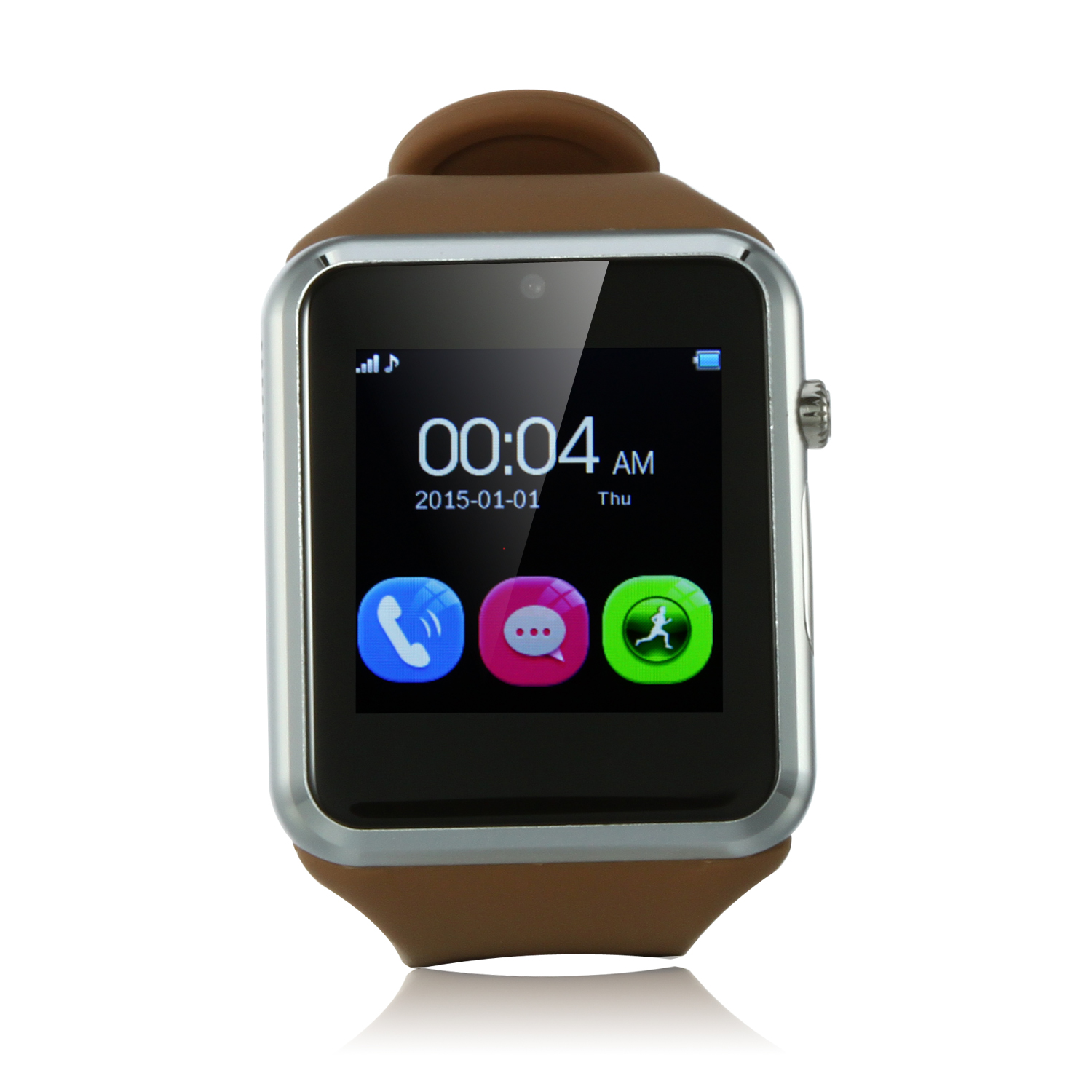 ZGPAX S79 Smart Watch Phone 1.54 Inch Touch Screen Bluetooth Camera FM Brown