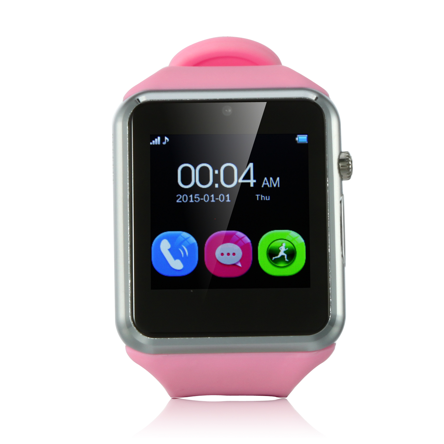 ZGPAX S79 Smart Watch Phone 1.54 Inch Touch Screen Bluetooth Camera FM Pink