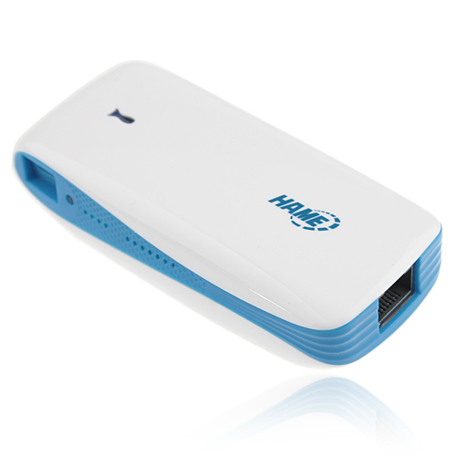 5200mAh Portable Mini 2 in 1 Mobile Power Bank 3G Wireless Router for iPhone iPad Cell Phone Tablet