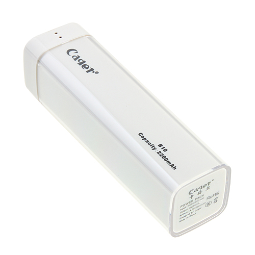 2200mAh Cager B10 Rechargeable Power Bank for Mobile Phones Digital Products  Portable