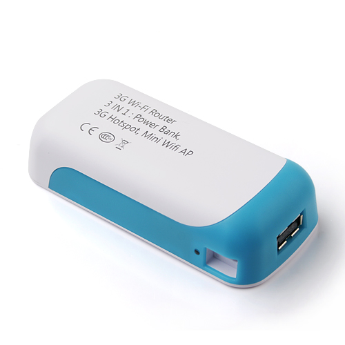 Cager 3-in-1 3G Wi-Fi Router RJ45 4000mAh Power Bank