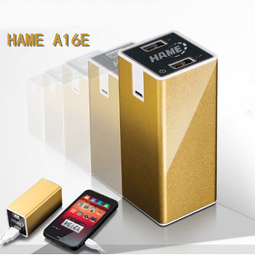 HAME A16E 11200mAh Dual USB Power Bank for iPhone iPad Mobile Phone