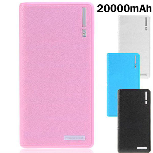 Fashion Wallet Pattern 20000mAh Mobile Power Bank for Smartphone Tablet PC