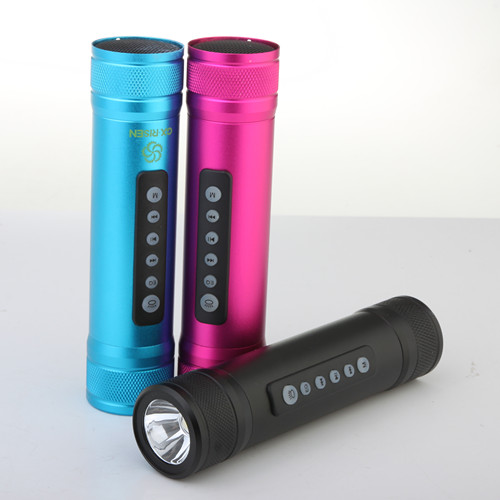Portable Power Bank Media Sound Box Flashlight For MobilePhone