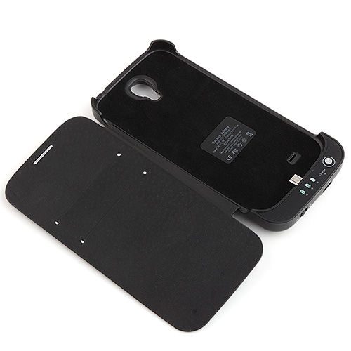 3800mA Battery Case Power Pack Case Cover For for Samsung Galaxy S4 Black