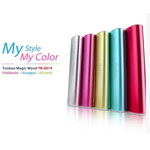 YooBao YB-6014 10400mAh Mobile Power Bank for Mobile Phone 5-color