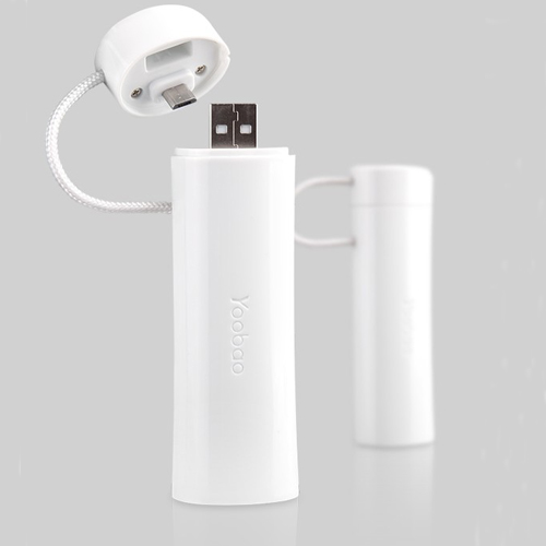 YooBao YB-6103 Elfin 2600mAh Mobile Power Bank for Mobile Phone White