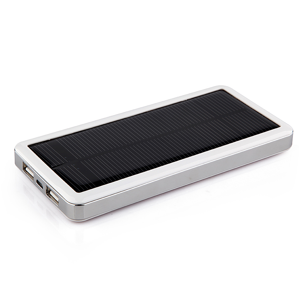 12800mAh Power Bank Solar Charger for iPad iPhone Smartphone White