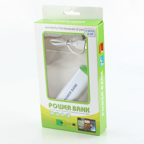 Portable 2600mAh Power Bank for Smartphone- Random in Color