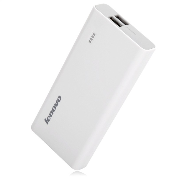 Original Lenovo Brand 10400mAh Power Bank 5V 2A for Smartphone Tablet PC- White