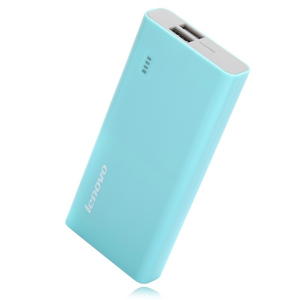 Original Lenovo Brand 10400mAh Power Bank 5V 2A for Smartphone Tablet PC- Blue
