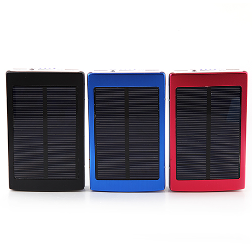 13800mAh Dual-USB Solar Charger Power Bank 3-color