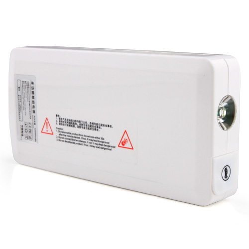 12000mAh Multi-function Automobile Igniter Power Bank for Sedan iPhone iPad White