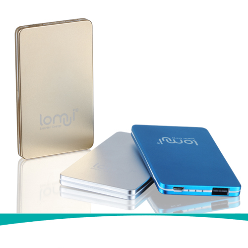 Lomui L301 3000mAh Ultra-thin Power Bank for Smartphones Tablet PC PSP