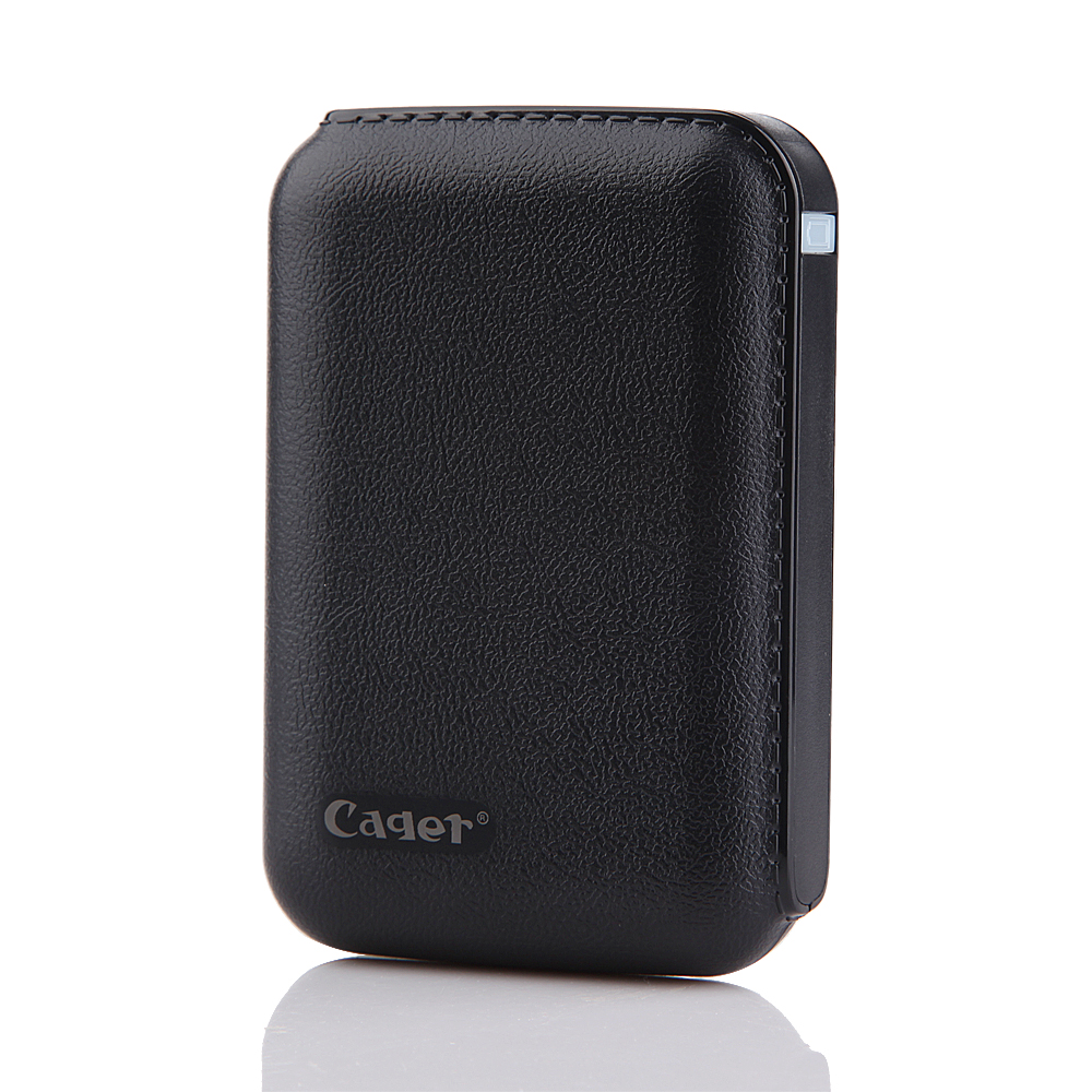 Cager B15 7200mAh Dual USB Power Bank for iPhone iPad Smartphone Black