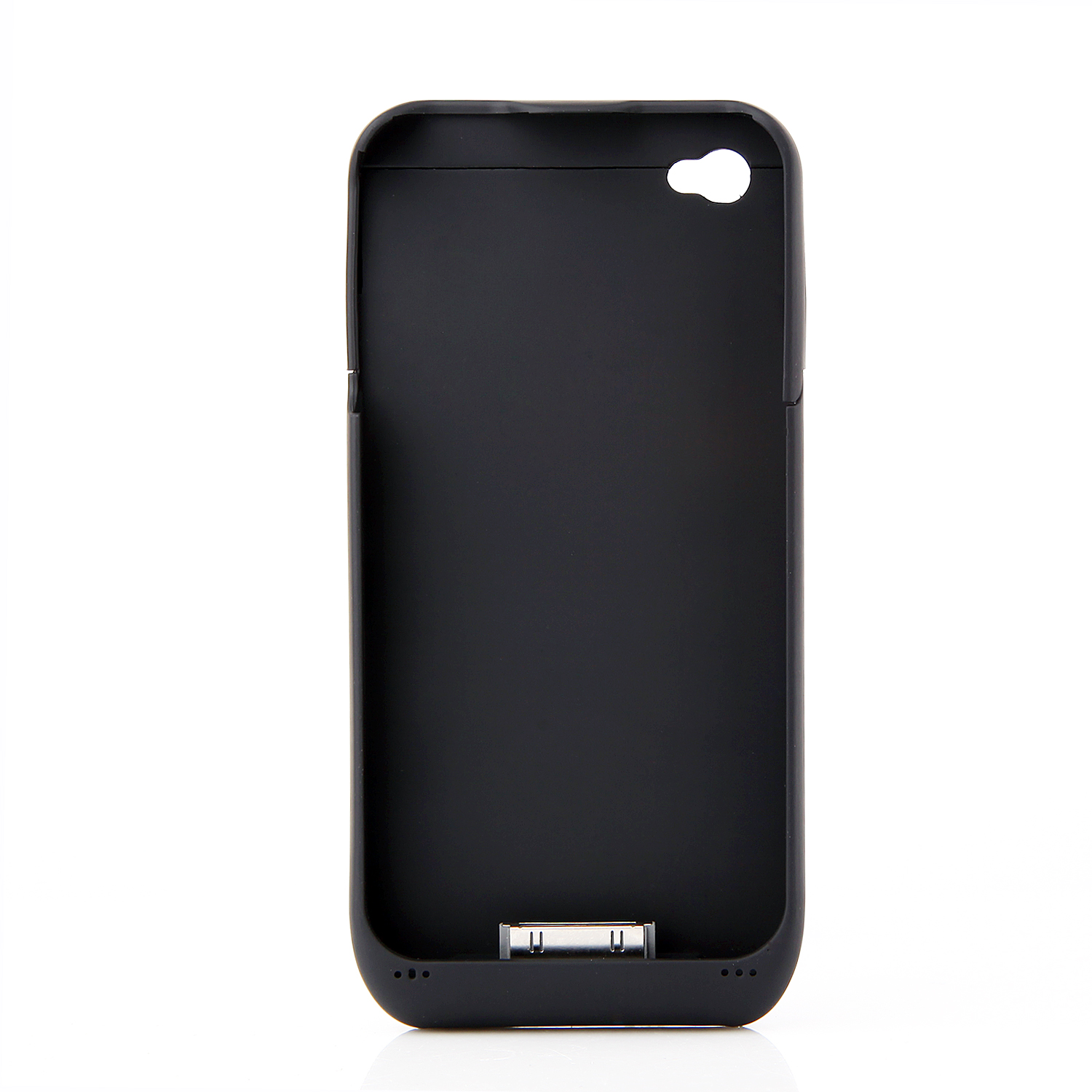 3000mAh Power Bank Back Case Phone Stand for iPhone 4 4S Black