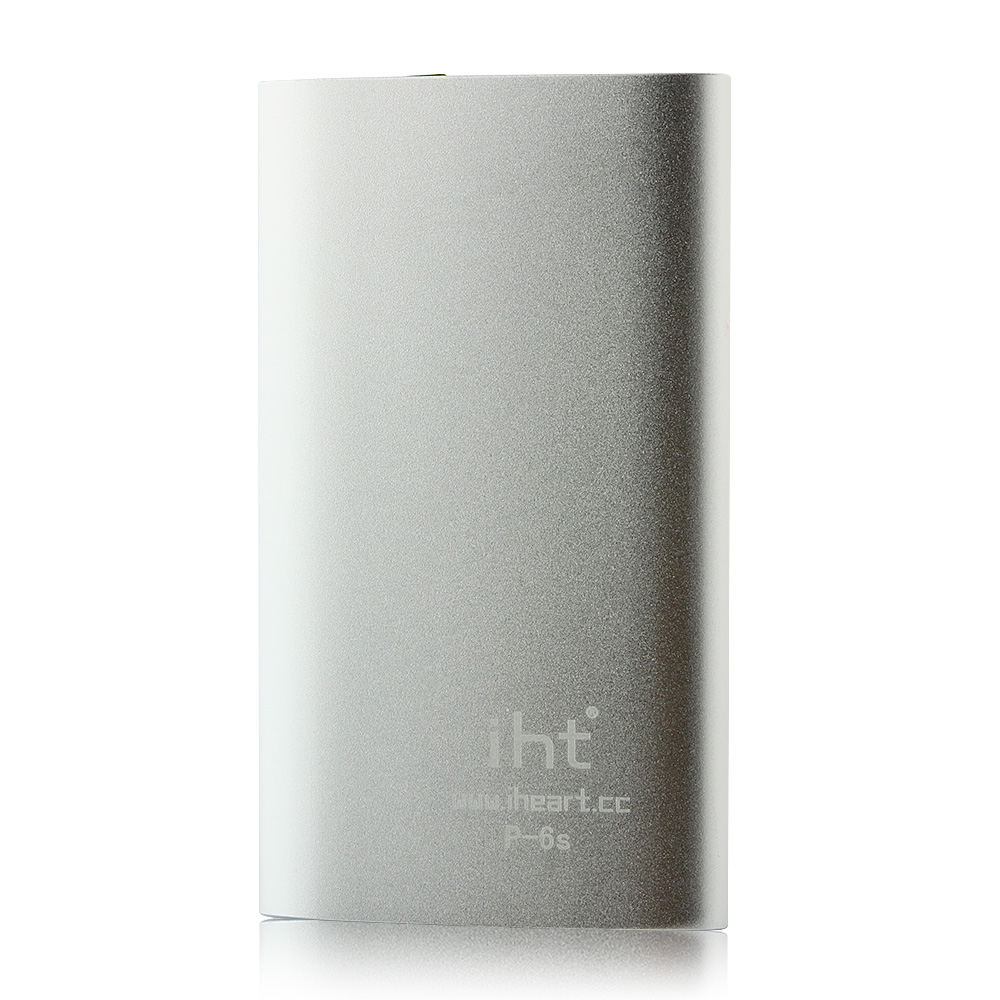 IHT P-6S 6600mAh Power Bank with 3-in-1 USB Cable for Smartphone Grey