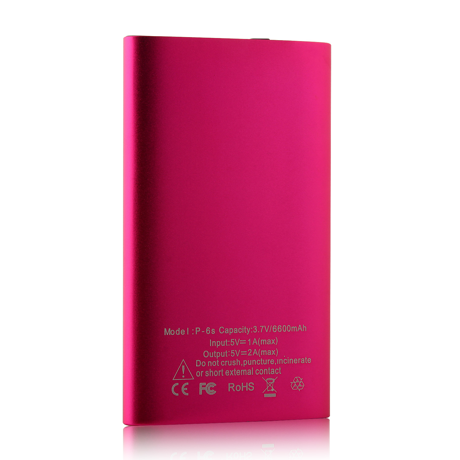 IHT P-6S 6600mAh Power Bank with 3-in-1 USB Cable for Smartphone Rose