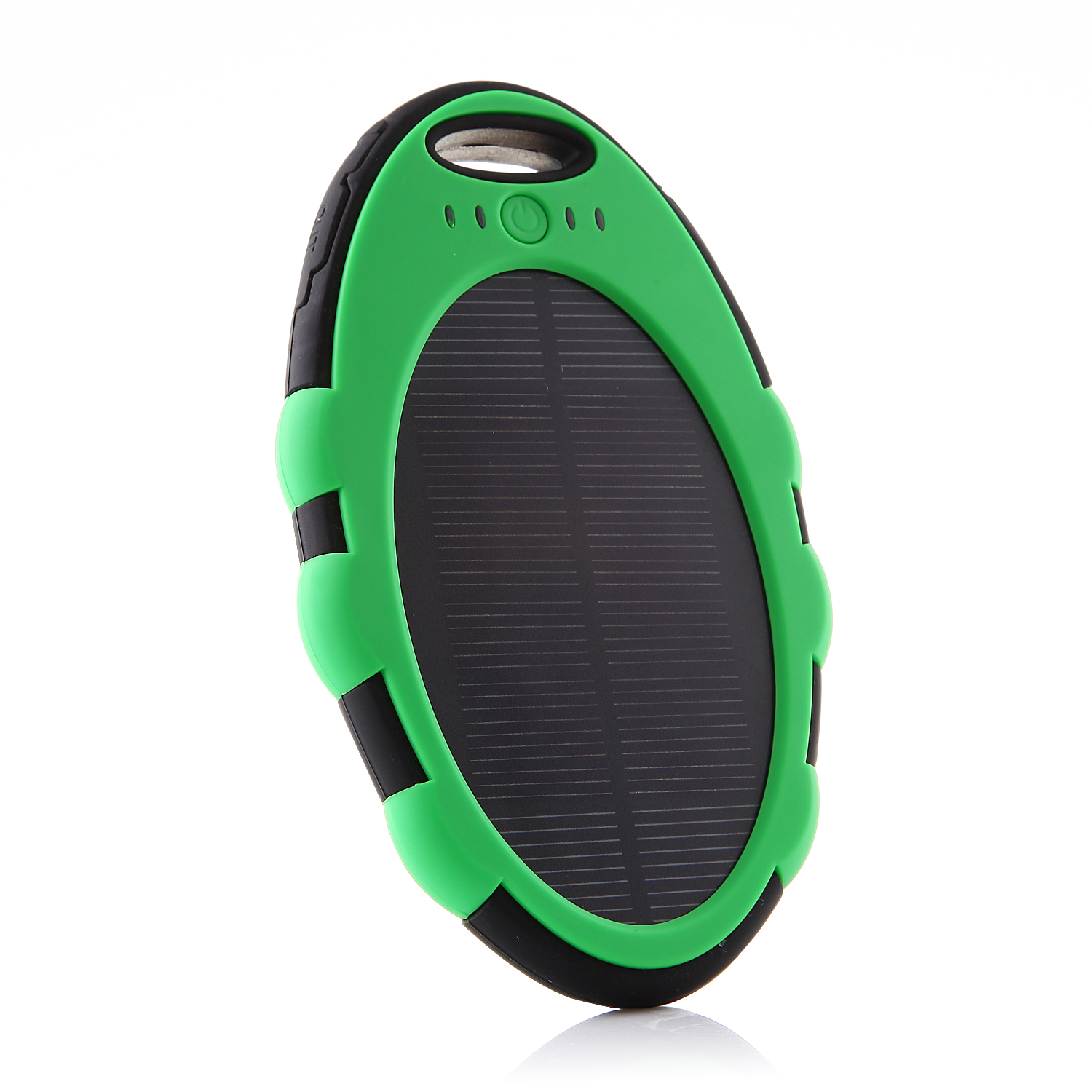 5000mAh Oval Shaped Power Bank Solar Charger for iPhone iPad Smartphone Green