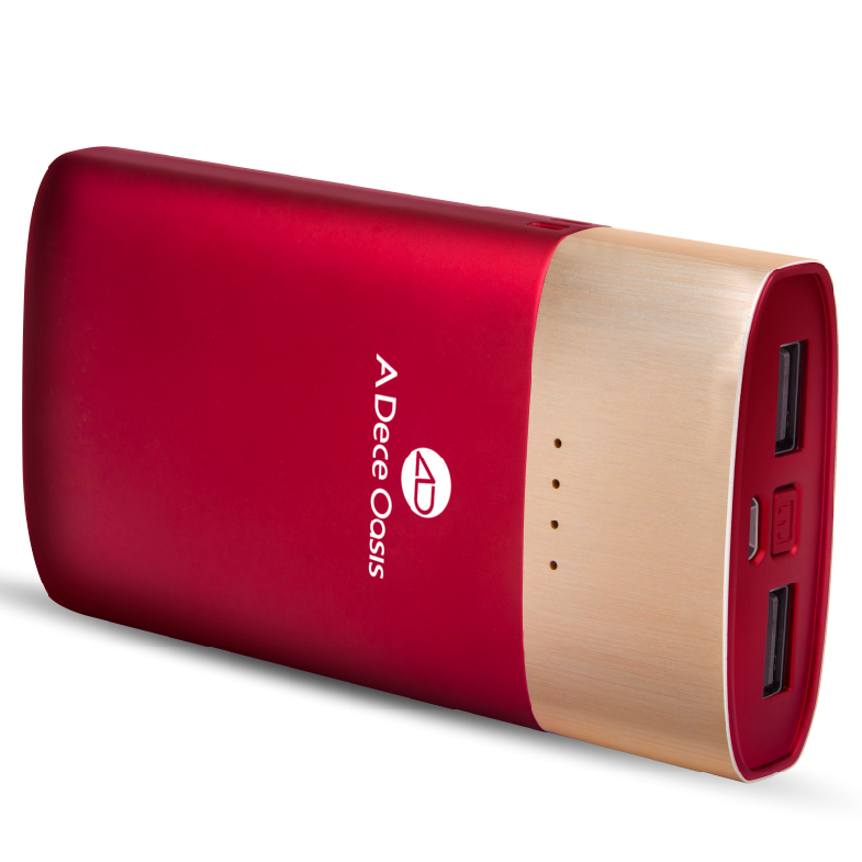 ADO KPOW8 9000mAh QC2.0 Two-way Quick Charge Power Bank Dual USB Output Red