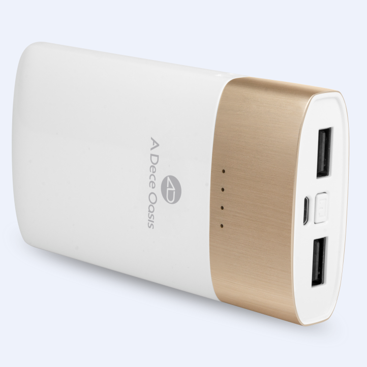 ADO KPOW8 9000mAh QC2.0 Two-way Quick Charge Power Bank Dual USB Output White