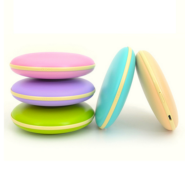 Cute Dorayaki Pattern Mini USB Hand Warmer 5000mAh Power Bank Candy Box