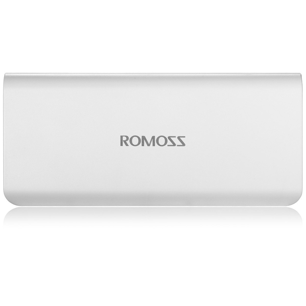 ROMOSS Sense 6 20000mAh External Power Bank 5V 2.1A for Smartphone Tablet PC- White