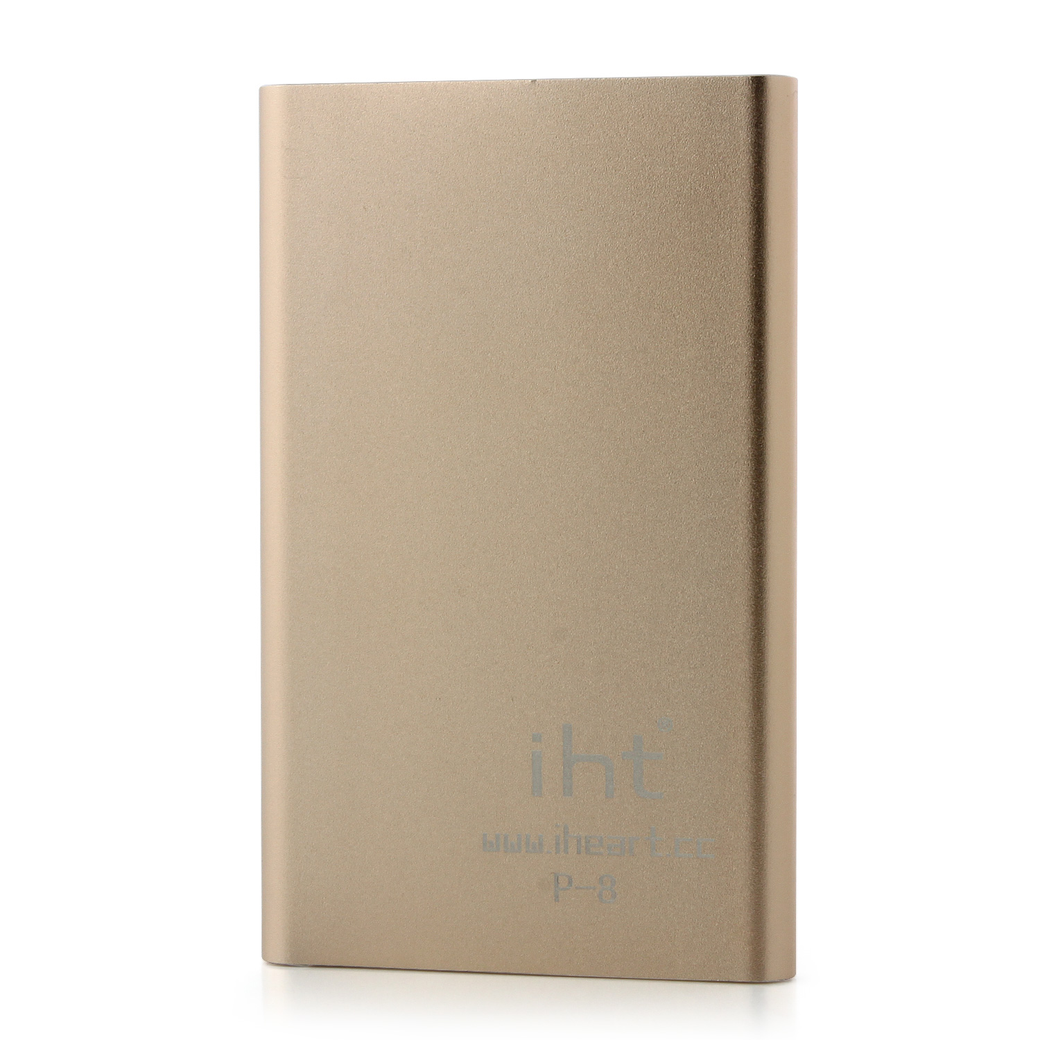 IHT P-8 8000mAh High Capacity Power Bank for Smartphone Tablet PC Gold