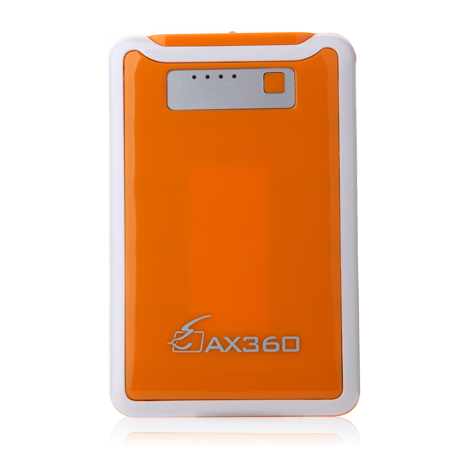 AX360 11000mAh Dual USB Power Bank for iPhone iPad Smartphone Oragne