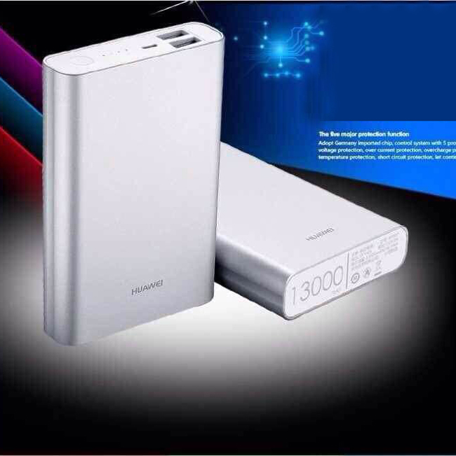 Original Huawei Power Bank 5V 2A 13000mAh Dual USB for Smartphone Tablet Notebook