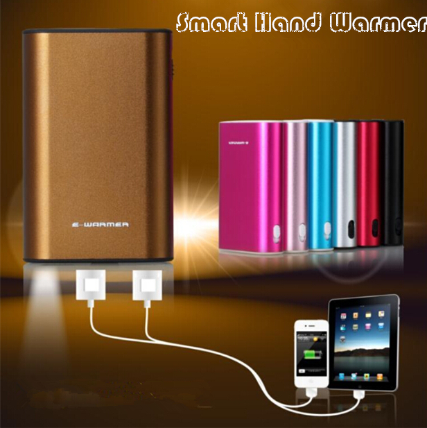 E-Warmer 6000mAh Intelligent King Hand Warmer USB Power Bank Colour Random