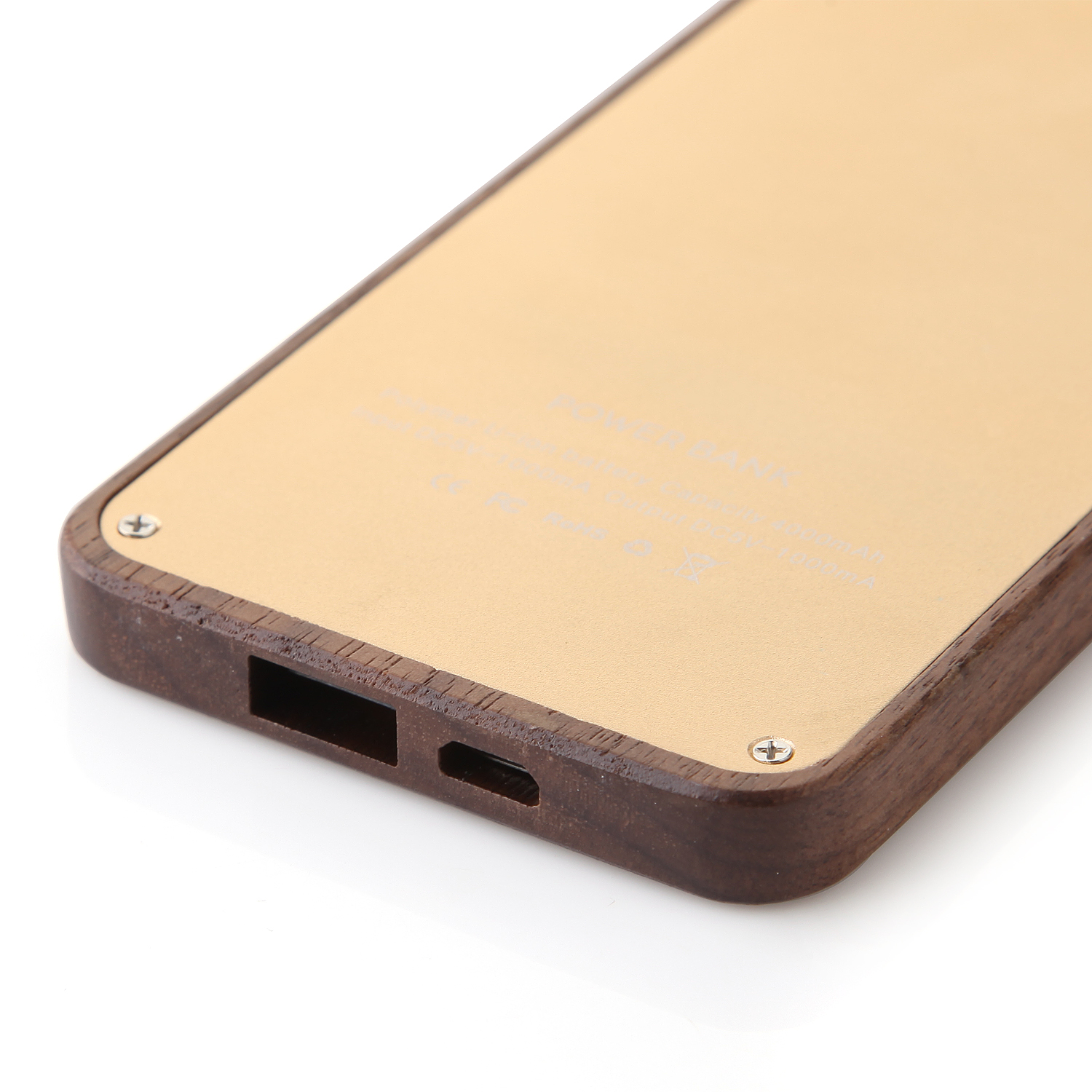 Unique Portable Universal 4000mAh Ultra Light Thin Wooden Power Bank